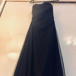 Vera Wang long black evening gown